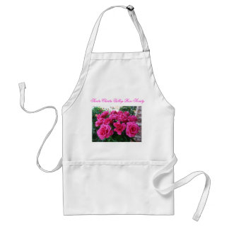Apron with Pink Roses