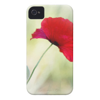 """Apron with red poppy """"Be happy!"""" Case-Mate iPhone 4 Case"""