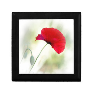 """Apron with red poppy """"Be happy!"""" Gift Box"""
