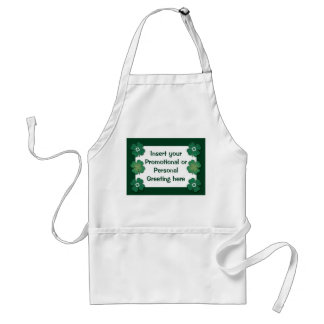 Aprons template - customizable shamrocks