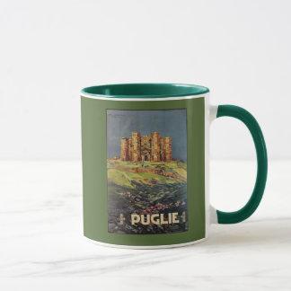Apulia Castle del Monte vintage Italian travel ad Mug