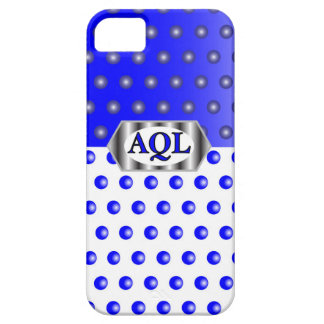 AQL WHITE BLUE iPhone 5 CASES