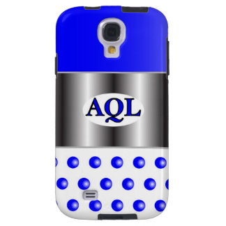 AQL WHITE BLUE  ONE SERIES GALAXY S4 CASE