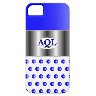 AQL WHITE BLUE  ONE SERIES iPhone 5 CASES