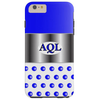 AQL WHITE BLUE  ONE SERIES TOUGH iPhone 6 PLUS CASE