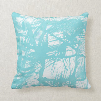 Aqua Abstract Cushion