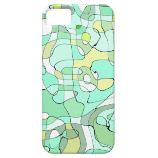 Aqua abstract iPhone 5 cover