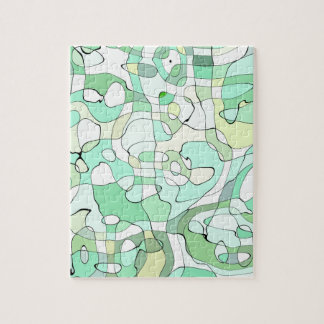 Aqua abstract jigsaw puzzle