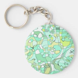 Aqua abstract key ring