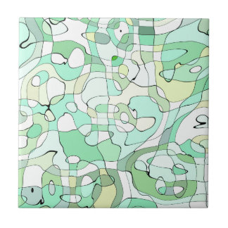 Aqua abstract small square tile