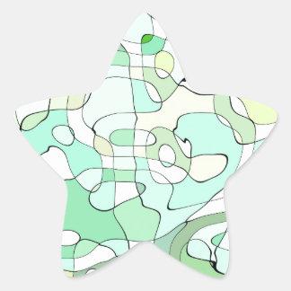Aqua abstract star sticker