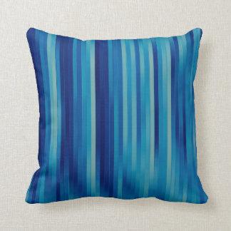 Aqua Abstract Stripes Pillow