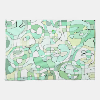 Aqua abstract tea towel