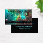 Aqua and Black Metaphysical Business Card