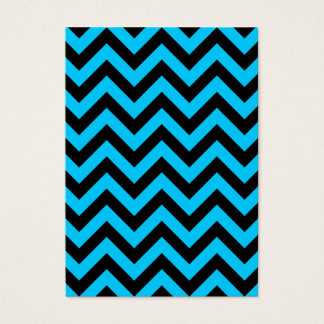 Aqua and Black Zig Zag Business Card