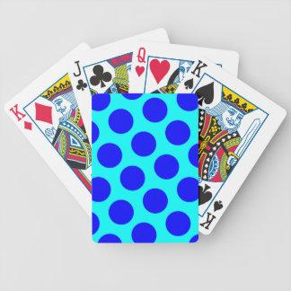Aqua and Blue Polka Dots Poker Deck