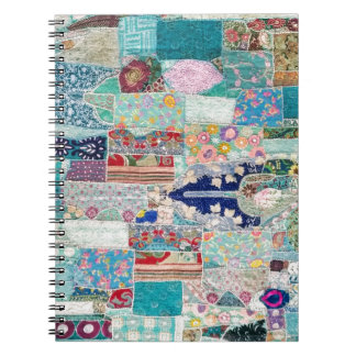 Aqua and Blue Quilt Tapestry Design Notebook
