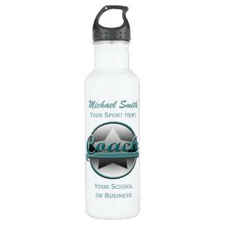 Aqua and Grey Star Coach Liberty Bottle