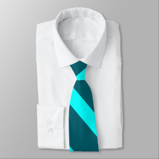 Aqua and Teal Broad University Stripe Tie