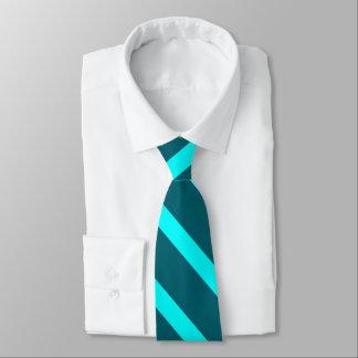 Aqua and Teal II University Stripe Tie