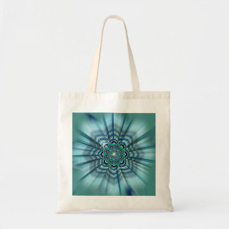 Aqua and Turquoise Lotus Mandala Tote Tote Bags