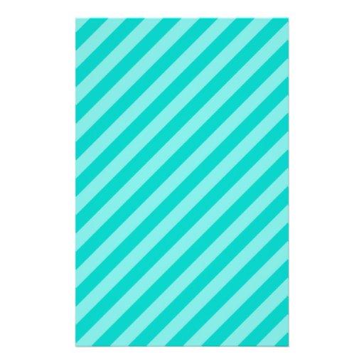 Aqua and Turquoise Stripes Custom Flyer