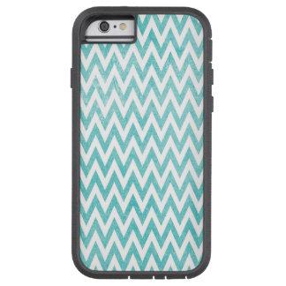 Aqua and White Chevron Tough Xtreme iPhone 6 Case