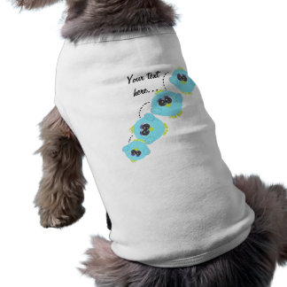 Aqua Baby Bird Sleeveless Dog Shirt