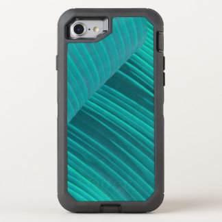 Aqua Banana Leaf OtterBox Defender iPhone 7 Case