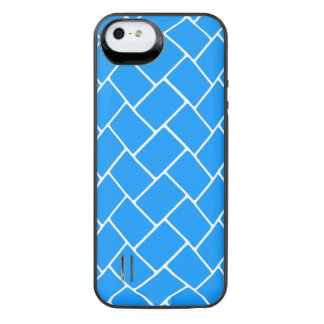 Aqua Basket Weave iPhone SE/5/5s Battery Case