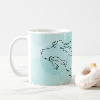 Aqua Basset Hound Mug
