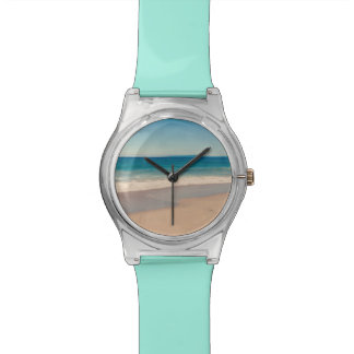 Aqua Beach Scene Watch