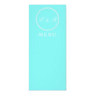 Aqua Belle Aqua Blue and White Text Wedding 10 Cm X 24 Cm Invitation Card
