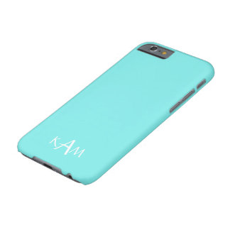 Aqua Belle Aqua Blue and White Text Wedding Barely There iPhone 6 Case