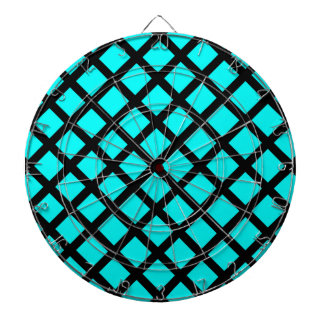 Aqua black pattern dartboard