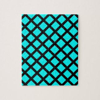 Aqua black pattern jigsaw puzzle