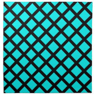 Aqua black pattern napkin