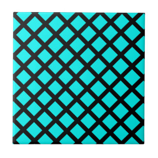 Aqua black pattern tile