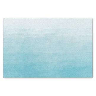 Aqua Bliss Watercolor Ombre Tissue Paper