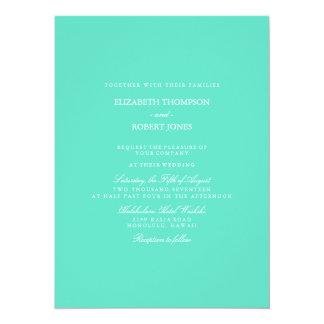 Aqua Blue Box with White Wedding Detail 14 Cm X 19 Cm Invitation Card
