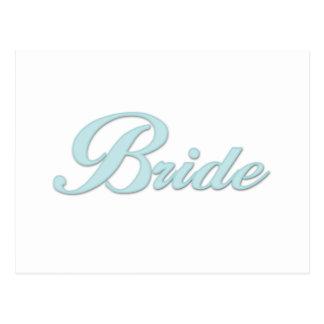 Aqua Blue Bride Post Card