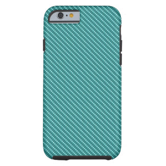 Aqua Blue Carbon Fiber Base Tough iPhone 6 Case