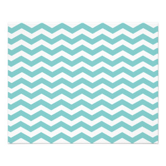 Aqua Blue Chevron. Great Paper / Affordable Price 11.5 Cm X 14 Cm Flyer