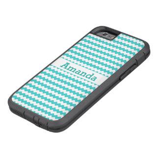 Aqua Blue Chevron Tough Xtreme iPhone 6 Case