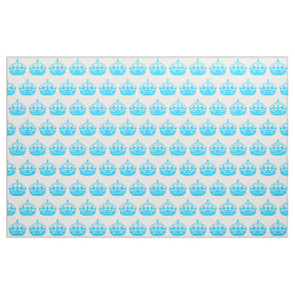 Aqua Blue Crown Fabric