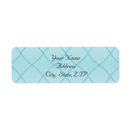 Aqua Blue Diamond Pattern Return Address Label