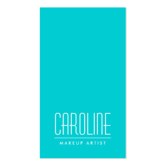 Aqua blue fashion personal profile or pack of standard business cards