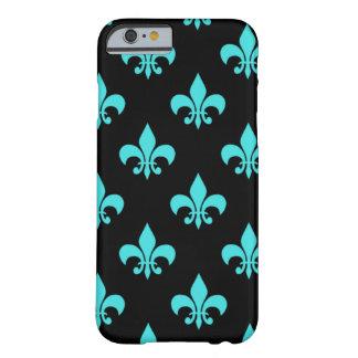 aqua blue fleur de lis pattern barely there iPhone 6 case