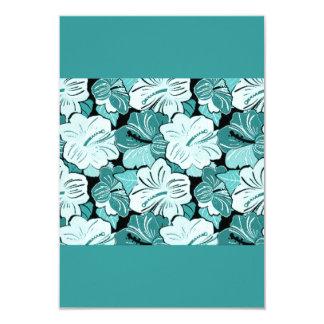 AQUA BLUE  FLOWERY HIBISCUS FLOWERS BACKGROUND PAT ANNOUNCEMENT
