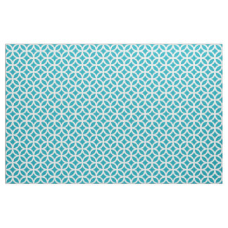 Aqua Blue Geometric Pattern Fabric